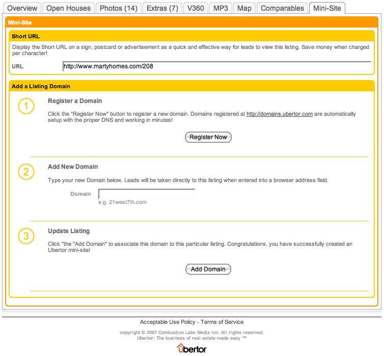 mini website for real estate websites individual listing website