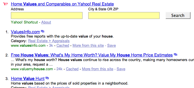 zillow real estate with yahoo