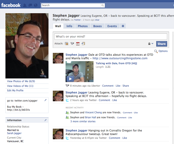 facebook profile of video 7