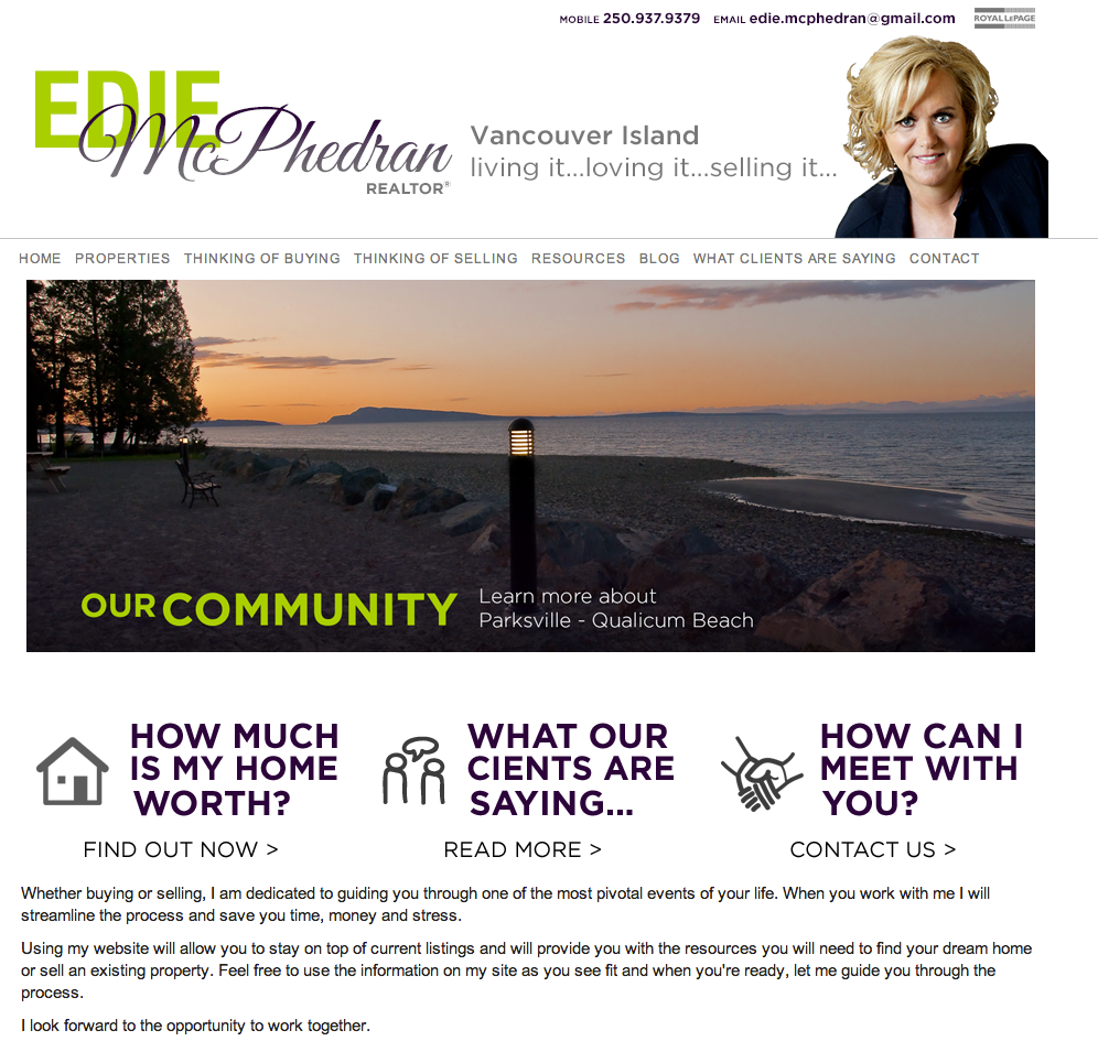 Edie McPhedran's Site of the week